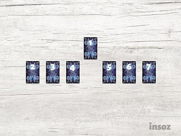 Расклад Безмятежность из семи карт